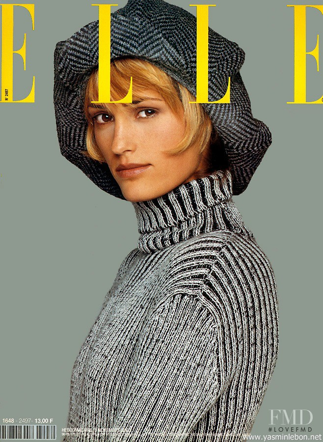 Yasmin Le Bon featured on the Elle France cover from November 1993