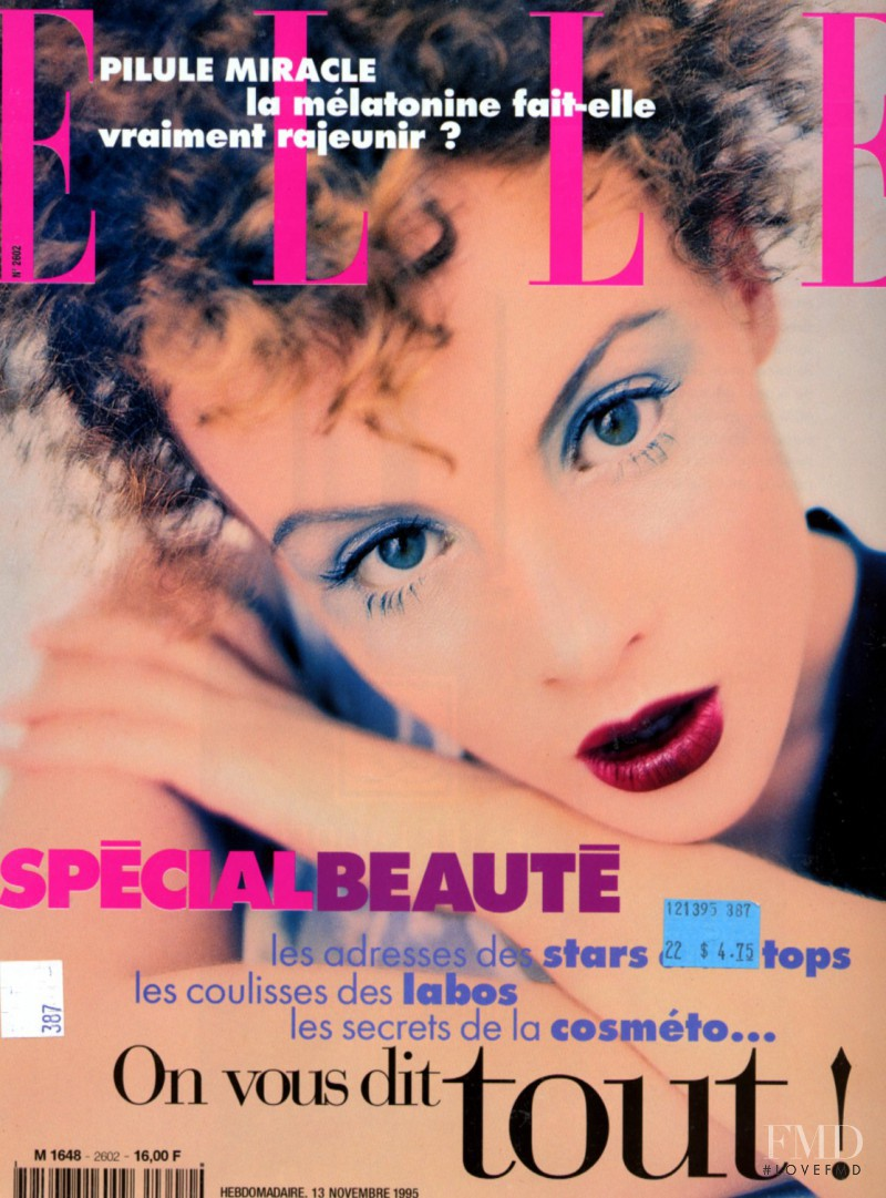 Michelle Behennah featured on the Elle France cover from November 1995