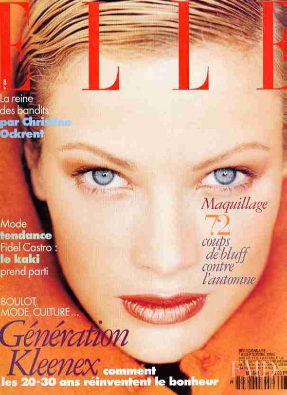 Carolyn Murphy featured on the Elle France cover from September 1996