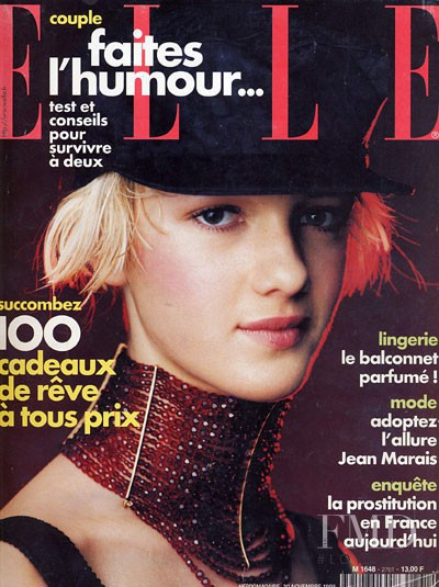 Liudmilla Bakhmat featured on the Elle France cover from November 1998