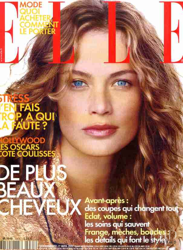 Carolyn Murphy featured on the Elle France cover from April 2002