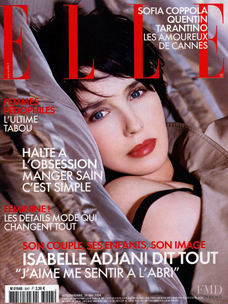 featured on the Elle France cover from May 2004