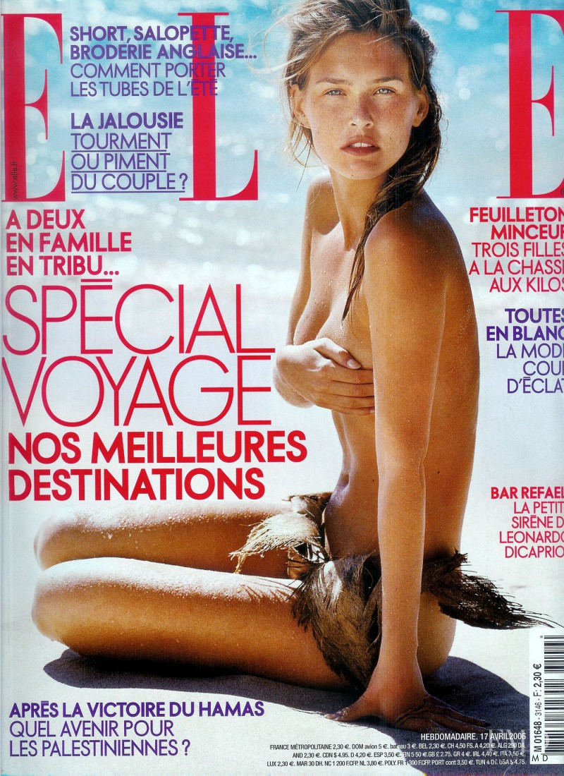 Bar Refaeli featured on the Elle France cover from April 2006