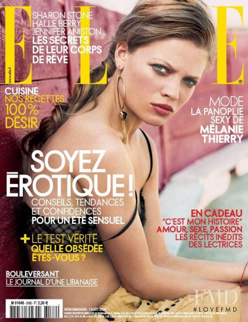 Melanie Thierry featured on the Elle France cover from August 2006