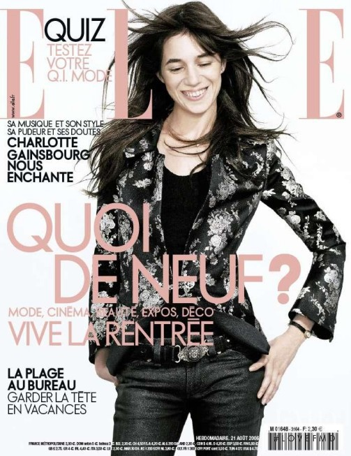 Charlotte Gainsbourg featured on the Elle France cover from August 2006