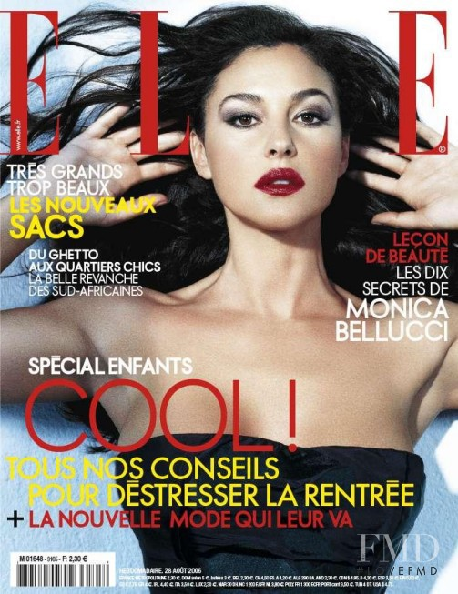 Monica Bellucci featured on the Elle France cover from August 2006