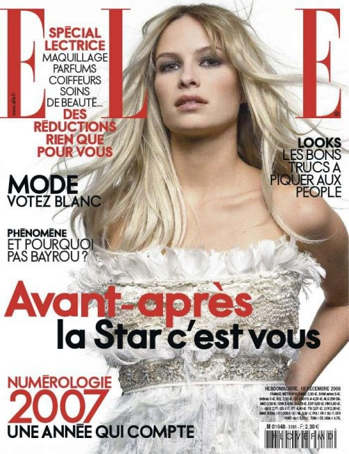 featured on the Elle France cover from December 2006
