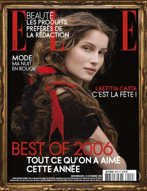 Laetitia Casta featured on the Elle France cover from December 2006
