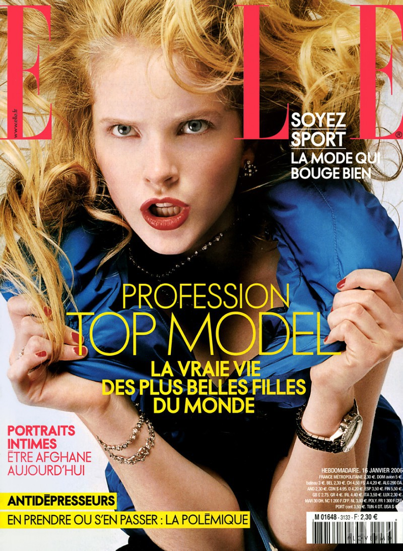 Danna Lee Ballard featured on the Elle France cover from January 2006