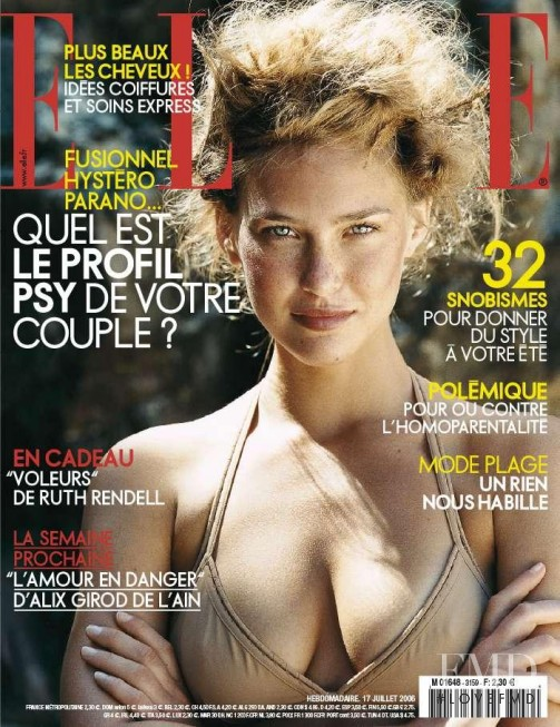 Bar Refaeli featured on the Elle France cover from July 2006