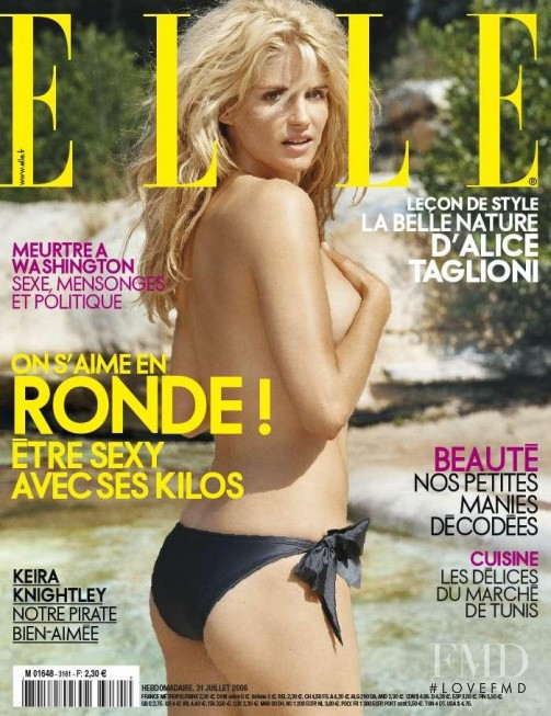 Alice Taglioni featured on the Elle France cover from July 2006
