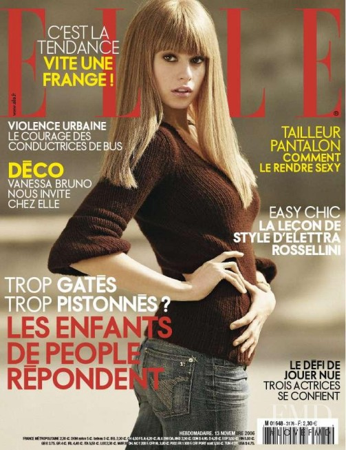 Elettra Rossellini featured on the Elle France cover from November 2006