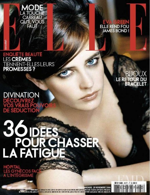 Eva Green featured on the Elle France cover from November 2006
