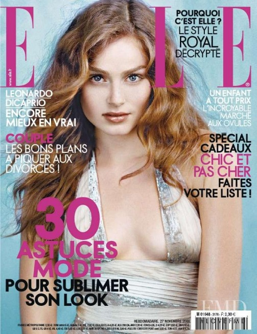 Mallory June featured on the Elle France cover from November 2006