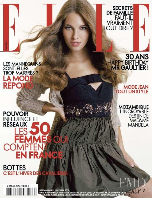 featured on the Elle France cover from October 2006