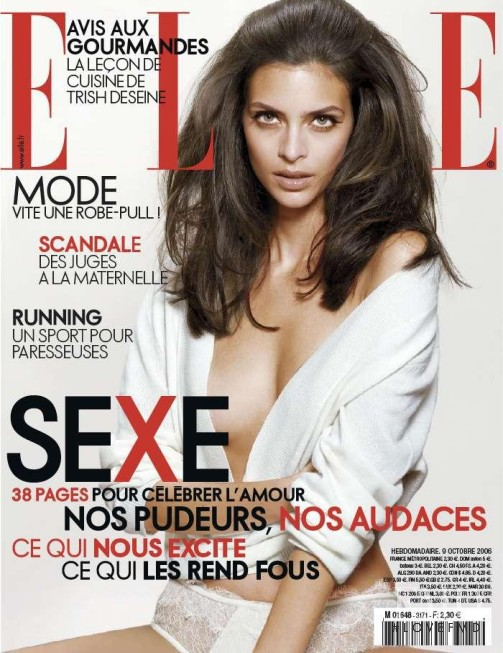 Marianna Romanelli featured on the Elle France cover from October 2006