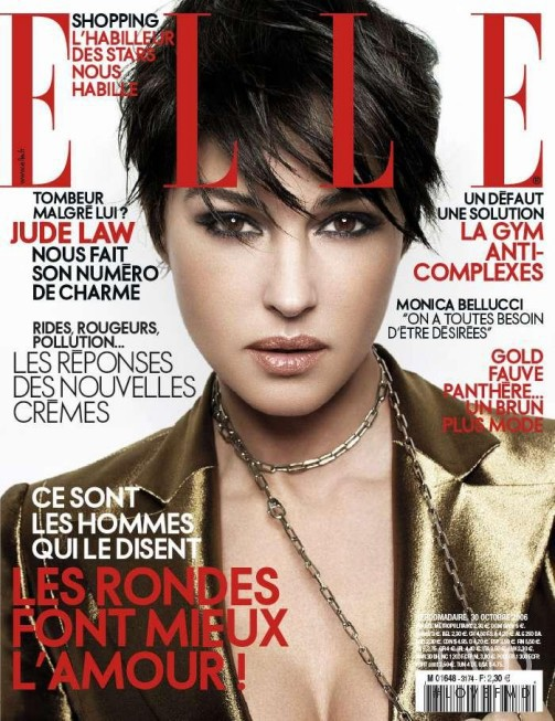 Monica Bellucci featured on the Elle France cover from October 2006