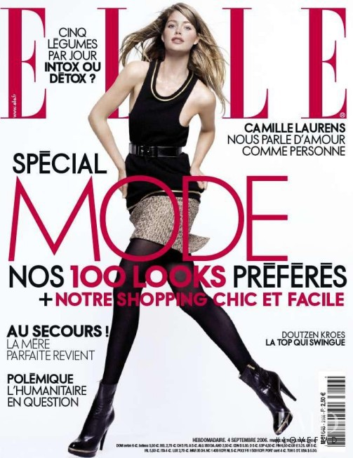 Doutzen Kroes featured on the Elle France cover from September 2006