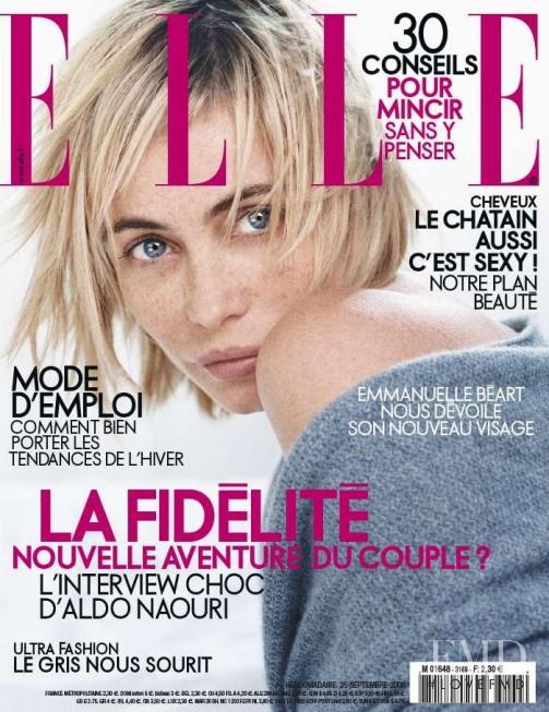 Emmanuelle Béart featured on the Elle France cover from September 2006