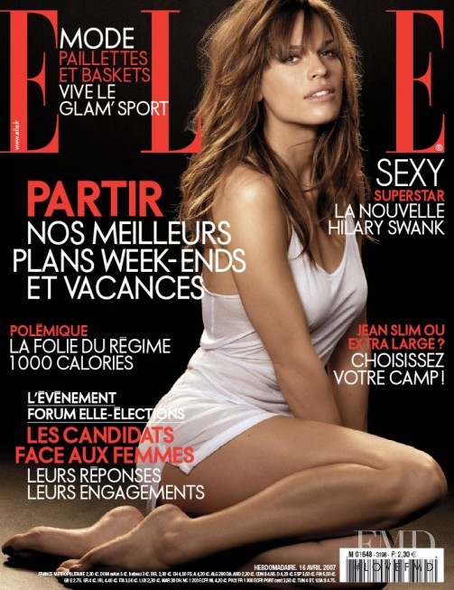 Hilary Swank featured on the Elle France cover from April 2007