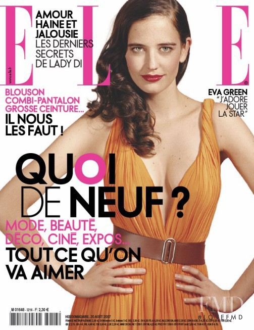 Eva Green featured on the Elle France cover from August 2007