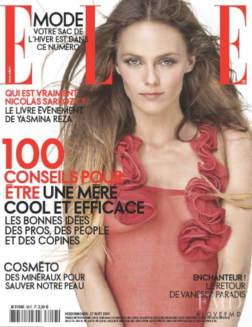 featured on the Elle France cover from August 2007