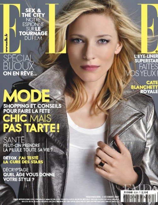 Cate Blanchette featured on the Elle France cover from December 2007