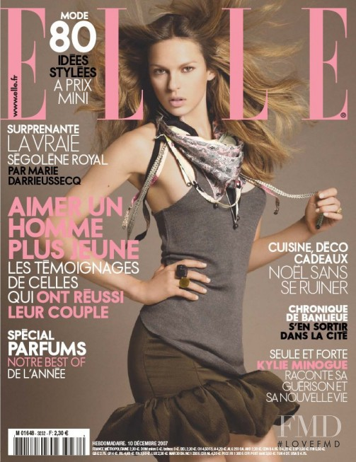 featured on the Elle France cover from December 2007