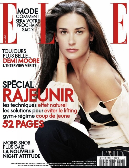 Demi Moore featured on the Elle France cover from February 2007