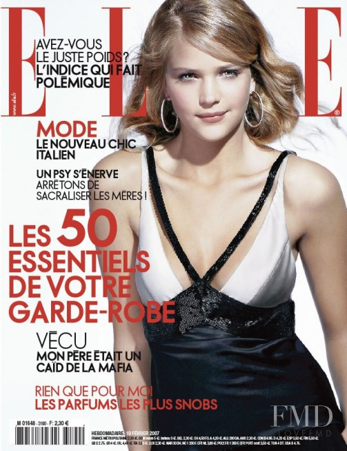 Esti Ginzburg featured on the Elle France cover from February 2007