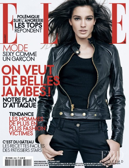Chiara Baschetti featured on the Elle France cover from February 2007