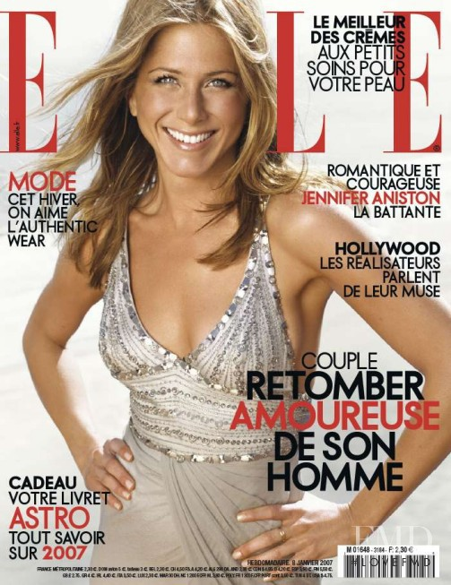 Jennifer Aniston featured on the Elle France cover from January 2007