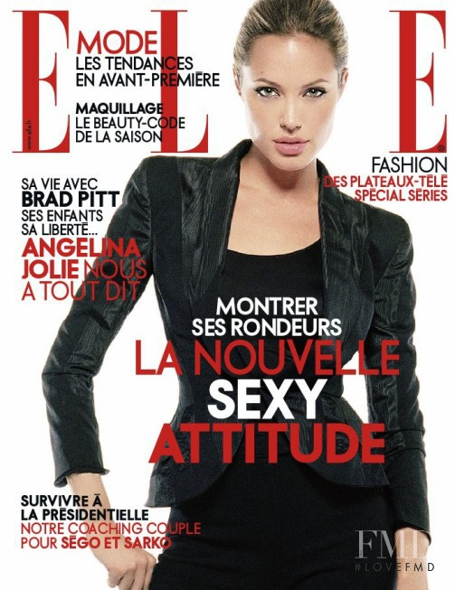 Angelina Jolie featured on the Elle France cover from January 2007