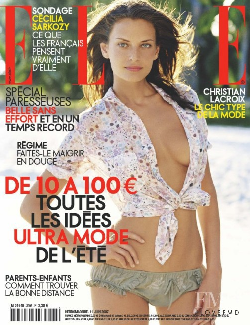 featured on the Elle France cover from June 2007