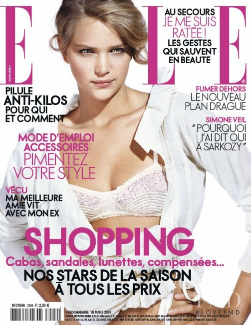 Esti Ginzburg featured on the Elle France cover from March 2007