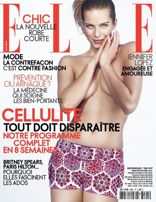 Karin Andersson featured on the Elle France cover from May 2007