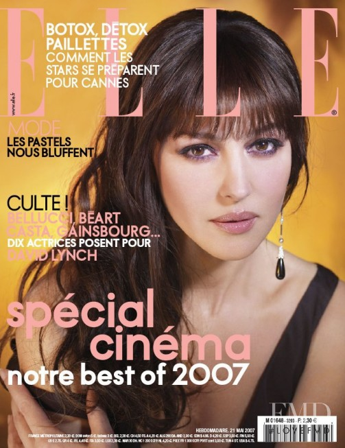 Monica Bellucci featured on the Elle France cover from May 2007