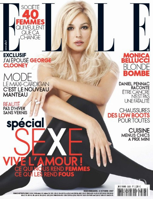 Monica Bellucci featured on the Elle France cover from October 2007