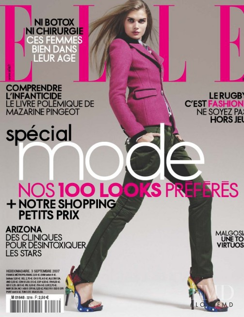 featured on the Elle France cover from September 2007
