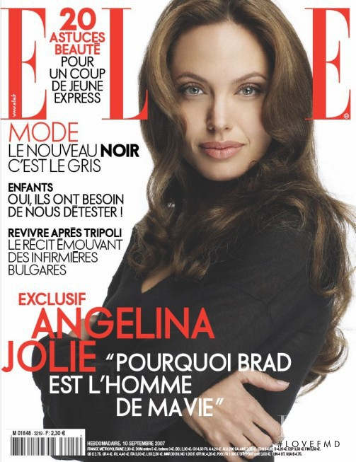Angelina Jolie featured on the Elle France cover from September 2007