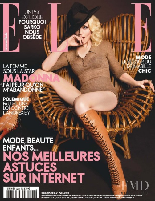 Madonna featured on the Elle France cover from April 2008
