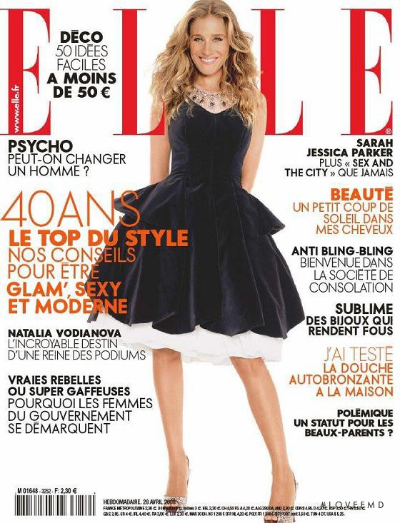 Sarah Jessica Parker featured on the Elle France cover from April 2008