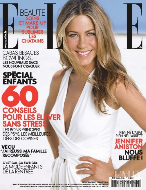 Jennifer Aniston featured on the Elle France cover from August 2008
