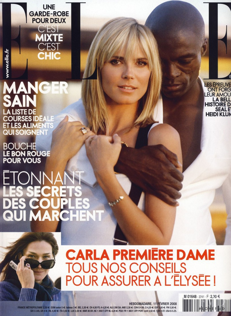 Heidi Klum featured on the Elle France cover from February 2008