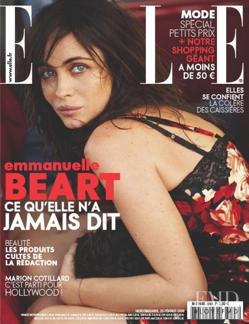 featured on the Elle France cover from February 2008