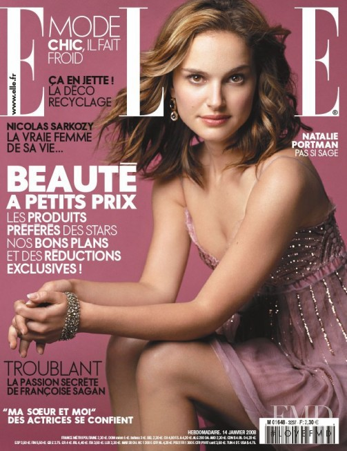 Natalie Portman featured on the Elle France cover from January 2008