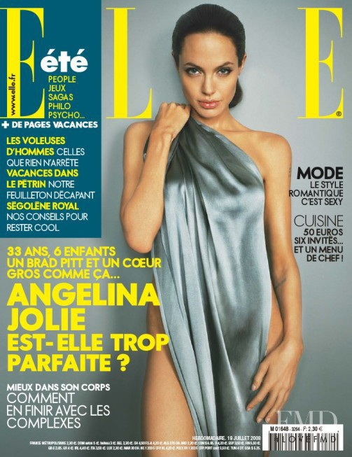 Angelina Jolie featured on the Elle France cover from July 2008