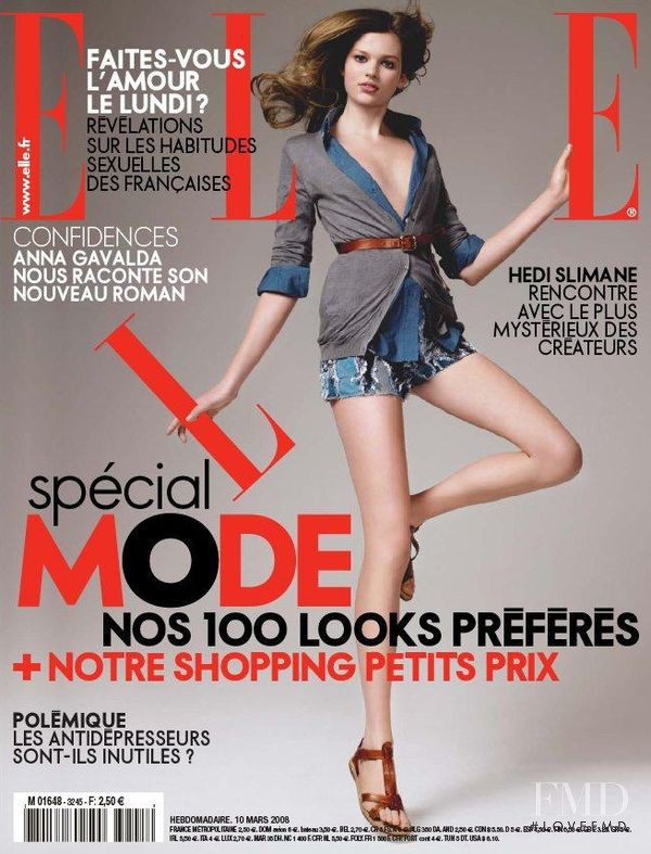 featured on the Elle France cover from March 2008