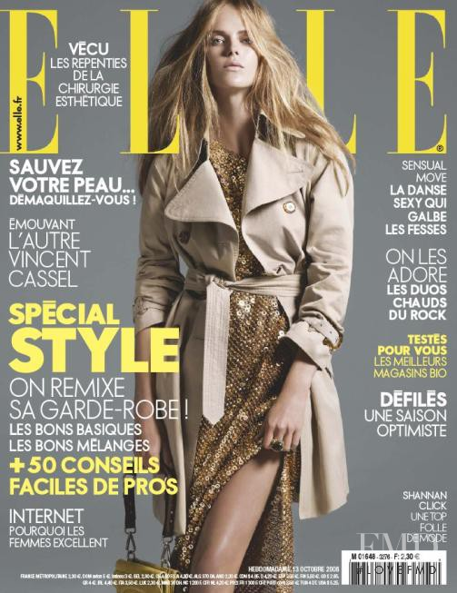 Shannan Click featured on the Elle France cover from October 2008