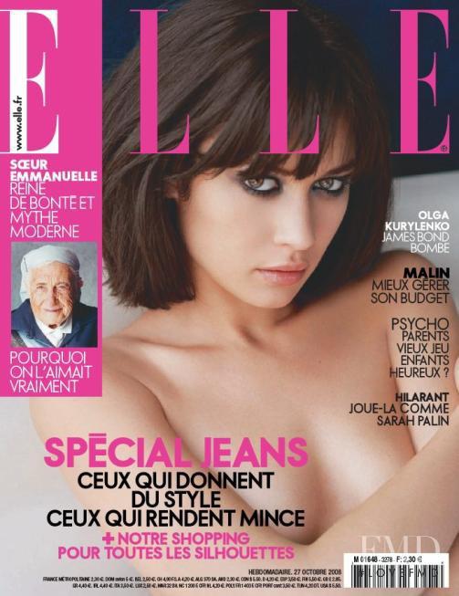 Olga Kurylenko featured on the Elle France cover from October 2008